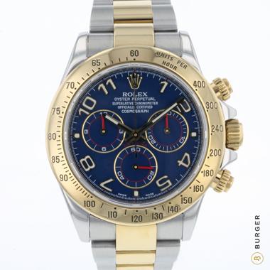 Rolex - Daytona Gold/Steel Blue Racing Dial