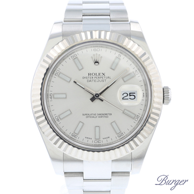 Rolex - Datejust II Fluted Silver Dial