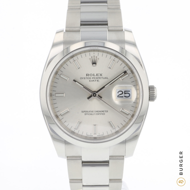 Rolex - Oyster Perpetual Date 34 Silver Dial NEW!