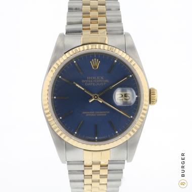 Rolex - Datejust 36 Jubilee Blue Dial Gold/Steel