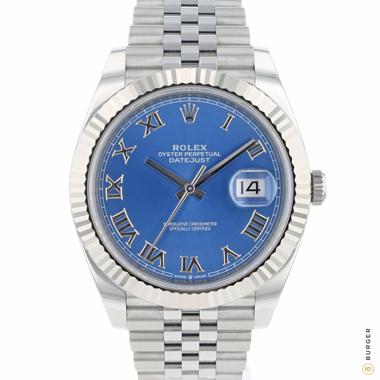 Rolex - Datejust 41 Fluted Jubilee Blue Roman Dial NEW!