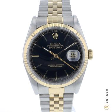 Rolex - Datejust 36 Steel/Gold jubilee black Dial