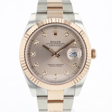 Rolex - Datejust 41 Rolesor Everose Fluted Diamond Dial