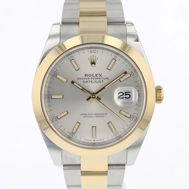 Rolex - Datejust 41 Gold/Steel Silver Dial NEW!!