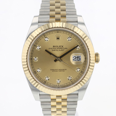 Rolex - Datejust 41 Gold/Steel Fluted Jubilee Diamond Dial NEW!