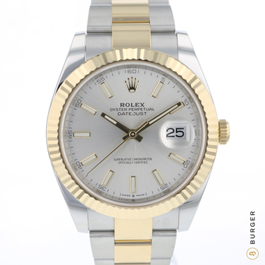 Rolex - Datejust 41 Gold/Steel Fluted Silver Dial NEW!