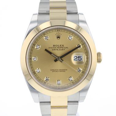 Rolex - Datejust 41 Gold/Steel Diamond Dial NEW!