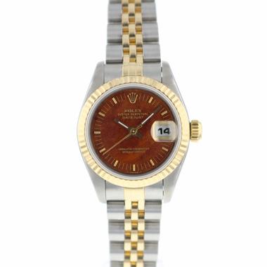 Rolex - Datejust 26 Gold/Steel Jubilee Wooden Dial