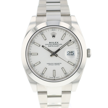 Rolex - Datejust 41 Oyster White Dial NEW