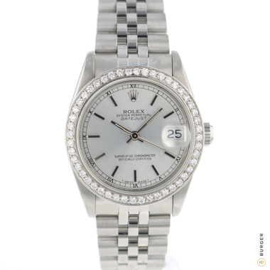 Rolex - Datejust 31 Midsize Silver Dial Jubilee Fluted Diamonds