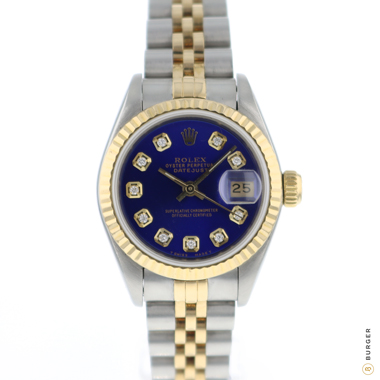 Rolex - Datejust 26 Lady Gold/Steel Jubilee Blue Diamond Dial