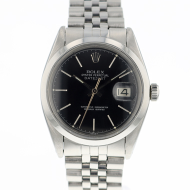 Rolex - Datejust 36 Smooth black dial Jubilee