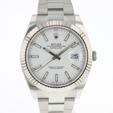 Rolex - Datejust 41 Fluted White Dial NEW!
