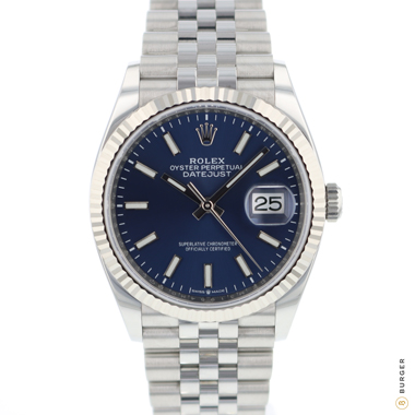 Rolex - Datejust 36 Fluted Jubilee Blue Dial 126234