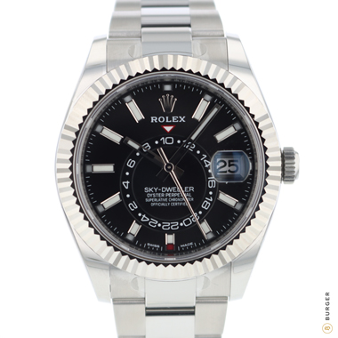 Rolex - Sky-Dweller Stainless Steel / White Gold / Black Dial NEW!