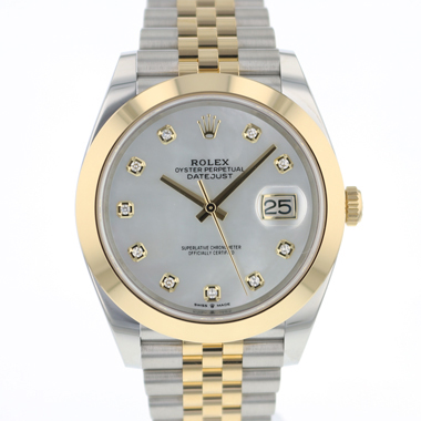 Rolex - Datejust 41 Gold/Steel Jubilee MOP Diamond Dial NEW!