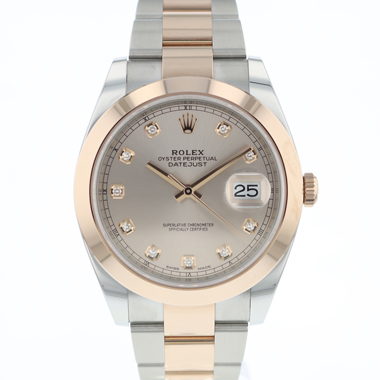Rolex - Datejust 41 Steel / Everose Gold  Diamond Dial NEW!!