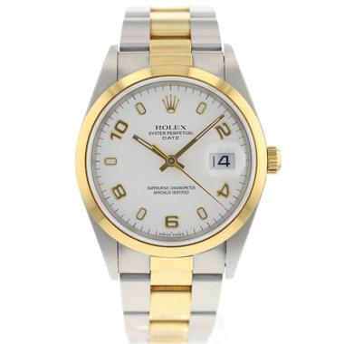 Rolex - Date Gold/Steel Unpolished