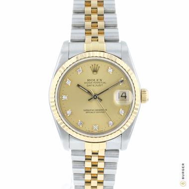 Rolex - Datejust 31 Midsize Gold/Steel Jubilee Diamond Dial