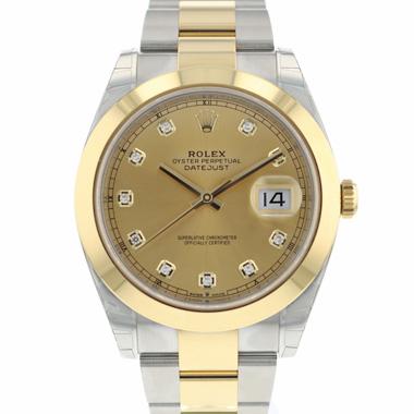Rolex - Datejust 41 Gold/Steel Diamond Dial NEW