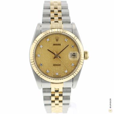 Rolex - Datejust 31 Midsize Gold/Steel Jubilee Diamond Logo Dial