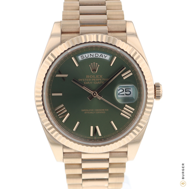 Rolex - Day-Date 40mm Everose Gold Green Dial