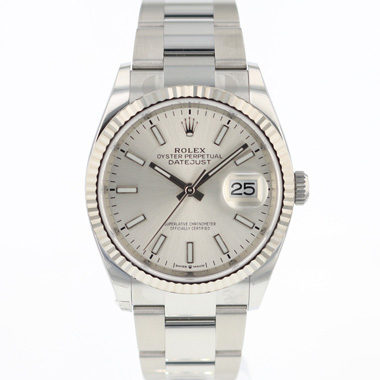 Rolex - Datejust 36 Fluted Silver Dial 126234 NEW!
