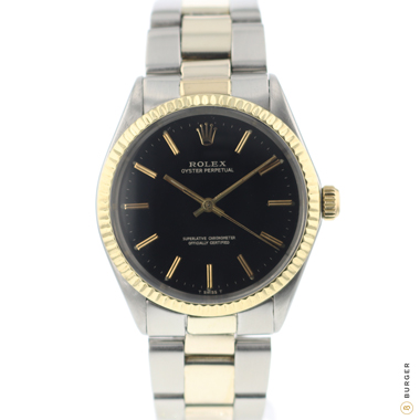 Rolex - Oyster Perpetual Steel / Gold Black Dial
