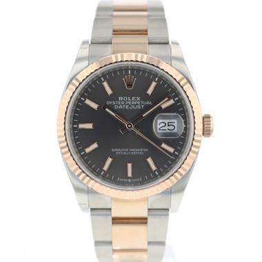 Rolex - Datejust 36 Rhodium Steel Everose Gold Fluted NEW!