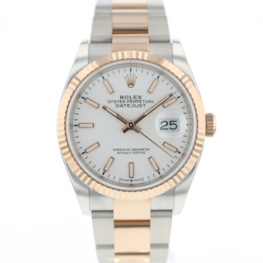 Rolex - Datejust 36 Steel Everose Gold Fluted NEW!