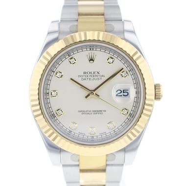 Rolex - Datejust II Fluted Ivory Diamond Dail Like New!