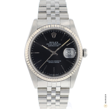 Rolex - Datejust 36 Fluted jubilee Black Dial