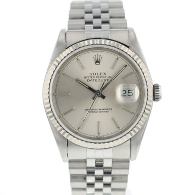 Rolex - Datejust 36 Fluted jubilee Silver Dial