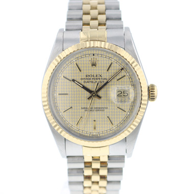 Rolex - Datejust 36 Gold/Steel Jubilee Houndstooth Dial