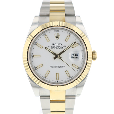 Rolex - Datejust 41 Gold/Steel Fluted White Dial NEW