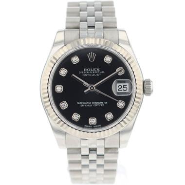 Rolex - Datejust 31 Midsize Jubilee Black Diamond Dial