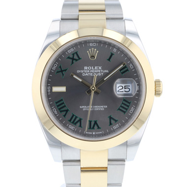 Rolex - Datejust 41 Gold/Steel Wimbledon NEW