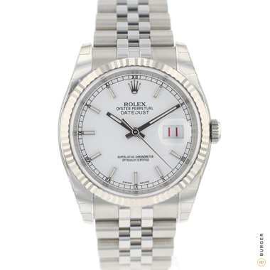 Rolex - Datejust 36 Fluted Jubilee White Dial NEW