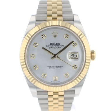 Rolex - Datejust 41 Gold/Steel Fluted Jubilee MOP Diamond Dial