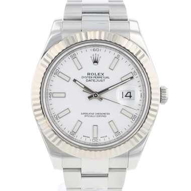 Rolex - Datejust II Fluted white Dial