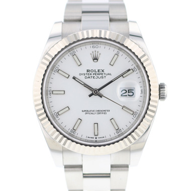 Rolex - Datejust 41 Fluted White Dial