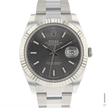 Rolex - Datejust 41 Fluted Oyster Dark Rhodium NEW!