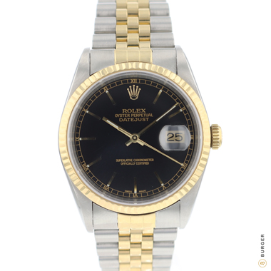 Rolex - Datejust 36 Jubilee Gold/Steel Jubilee Black Dial