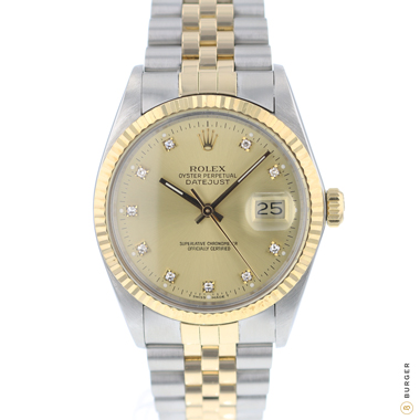 Rolex - Datejust 36 Gold/Steel Jubilee Diamond Dial