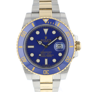 Rolex - Submariner Date Steel / Gold  Blue Dial