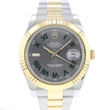 Rolex - Datejust II Gold/Steel Fluted Wimbledon Dial