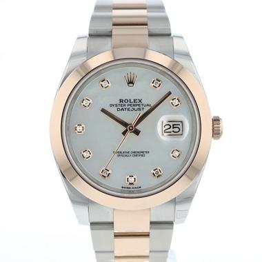 Rolex - Datejust 41 Steel Everose Gold MOP Dial Diamonds NEW
