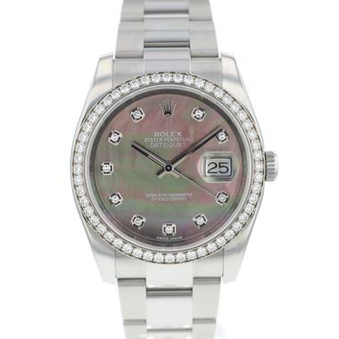 Rolex - Datejust 36 MOP Factory Set Diamonds