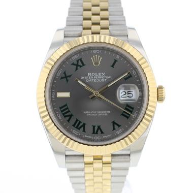 Rolex - Datejust 41 Steel / Gold / Fluted / Jubilee Wimbledon Dial