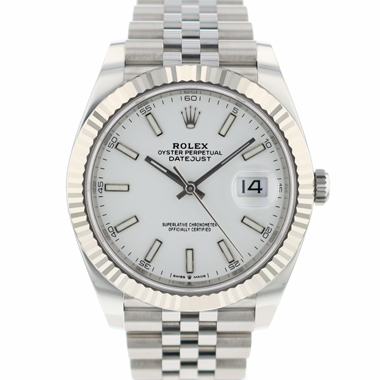 Rolex - Datejust 41 Jubilee Fluted White Dial NEW!